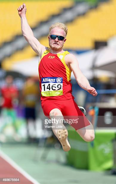 Ivan Jose Cano Blanco of Spain competes in the Men's Long Jump T13 Final during the Morning Session on Day One of the IPC Athletics World...