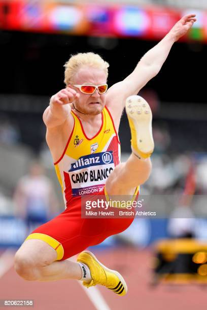 Ivan Jose Cano Blanco of Spain competes in the Mens long jump T13 final during day nine of the IPC World ParaAthletics Championships 2017 at London...