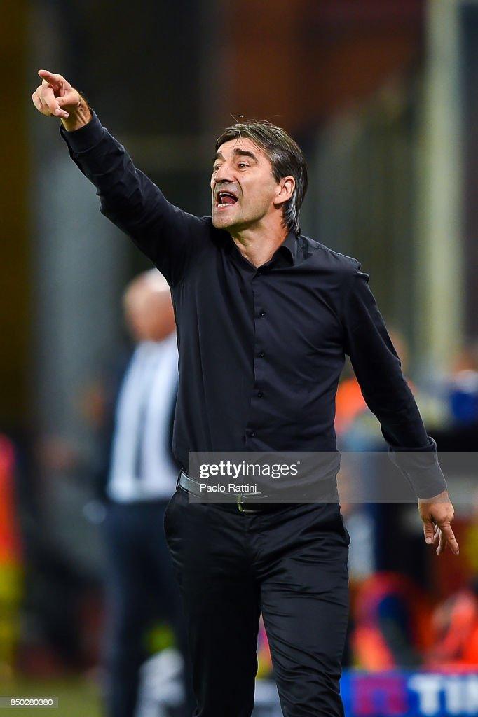 Ivan Juric coach of Genoa during the Serie A match between Genoa CFC and AC Chievo Verona at Stadio Luigi Ferraris on September 20, 2017 in Genoa, Italy.