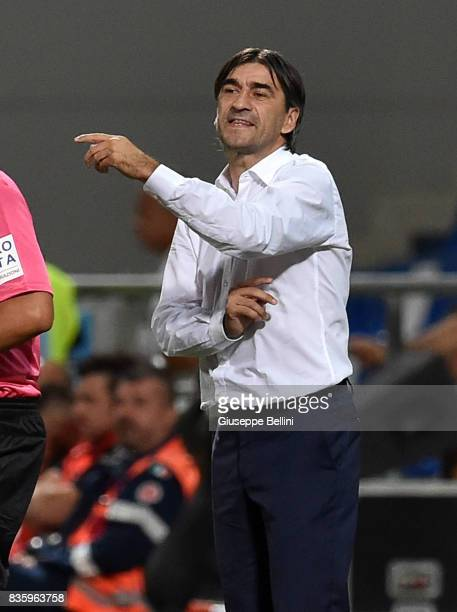 Ivan Juric head coach of Genoa CFC during the Serie A match between US Sassuolo and Genoa CFC at Mapei Stadium Citta' del Tricolore on August 20 2017...