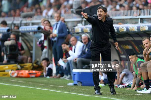 Ivan Juric head coach of Genoa CFC gestures during match between Genoa CFC and Juventus FC Genoa lost the match to Juventus by 2 goals to 4