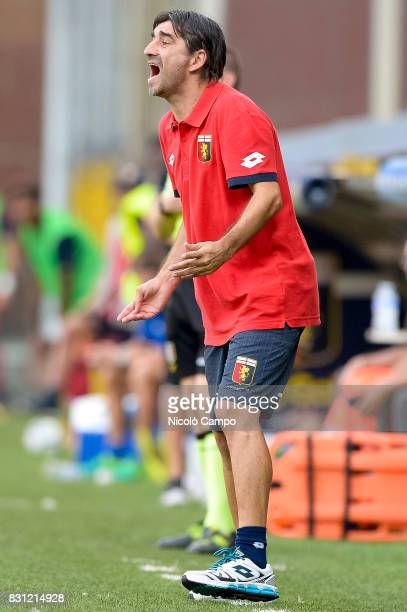 Ivan Juric head coach of Genoa CFC gestures during the TIM Cup football match between Genoa CFC and AC Cesena Genoa CFC wins 21 over AC Cesena