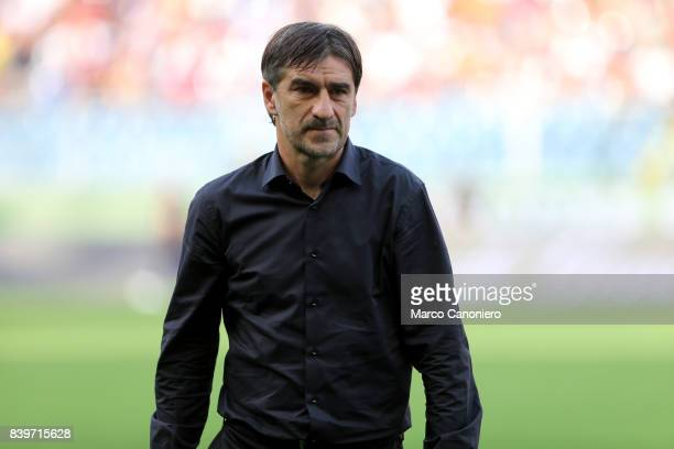 Ivan Juric head coach of Genoa CFC looks on before the Serie A football match between Genoa CFC and Juventus FC Genoa lost the match to Juventus by 2...