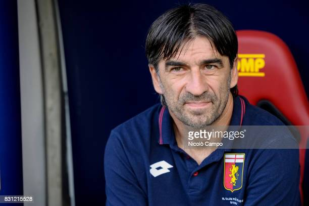 Ivan Juric head coach of Genoa CFC looks on prior to the TIM Cup football match between Genoa CFC and AC Cesena Genoa CFC wins 21 over AC Cesena