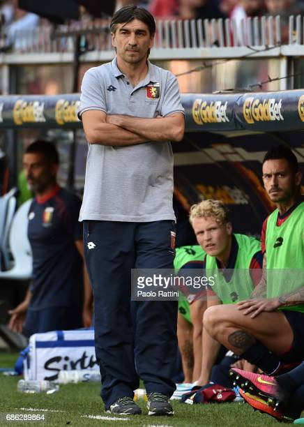 Ivan Juric head coach of Genoa during the Serie A match between Genoa CFC and FC Torino at Stadio Luigi Ferraris on May 21 2017 in Genoa Italy
