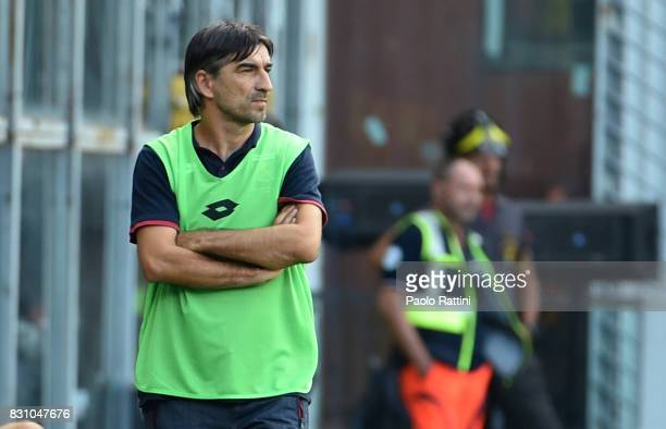 Ivan Juric head coach of Genoa during the TIM Cup match between Genoa CFC and AC Cesena at Stadio Luigi Ferraris on August 13 2017 in Genoa Italy