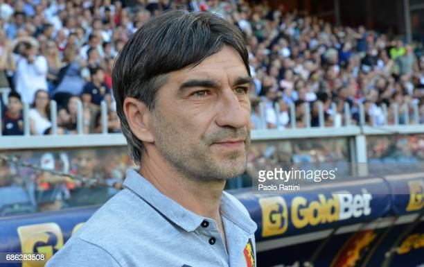 Ivan Juric head coch ogf Genoa during the Serie A match between Genoa CFC and FC Torino at Stadio Luigi Ferraris on May 21 2017 in Genoa Italy