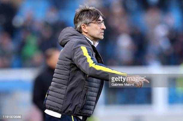 Ivan Juric manager of Hellas Verona gestures during the Serie A match between SPAL and Hellas Verona at Stadio Paolo Mazza on January 5 2020 in...