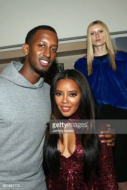 Ivan Kagame and Angela Simmons attend the Winter Wonderland Launch Party Toy Drive at Technogym Showroom on December 17 in New York City