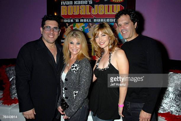 Ivan Kane Champagne Suzy Sharon Lawrence and Dr Tom Apostle at the premiere show of Royal Jelly at Ivan Kane's Forty Deuce at Mandalay Bay on August...