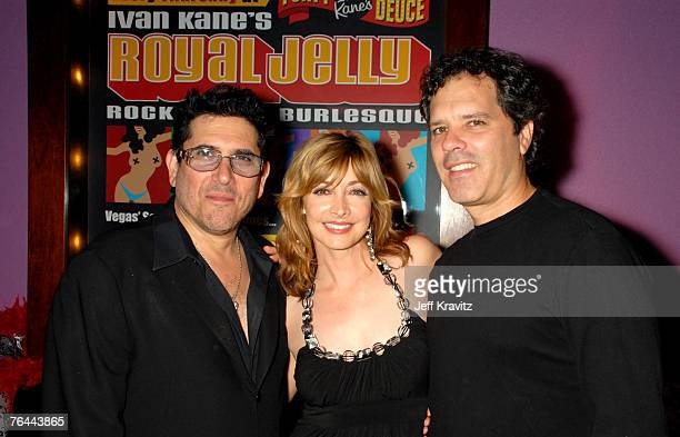 Ivan Kane Sharon Lawrence and Dr Tom Apostle at the premiere show of Royal Jelly at Ivan Kane's Forty Deuce at Mandalay Bay on August 30 2007 in Las...