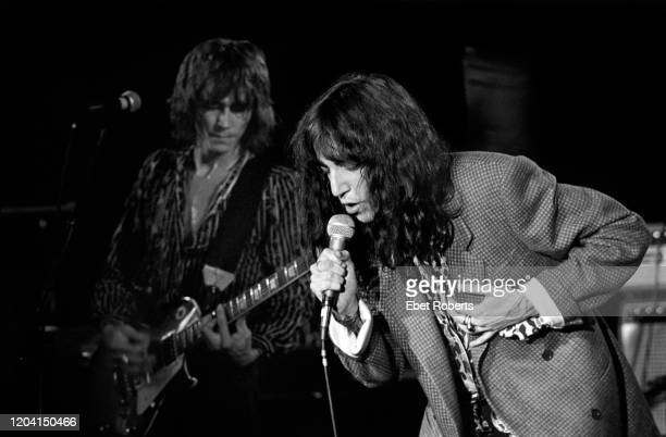 Ivan Kral and Patti Smith performing with the Patti Smith Group at the Asbury Park Convention Hall in Asbury Park New Jersey on August 5 1978