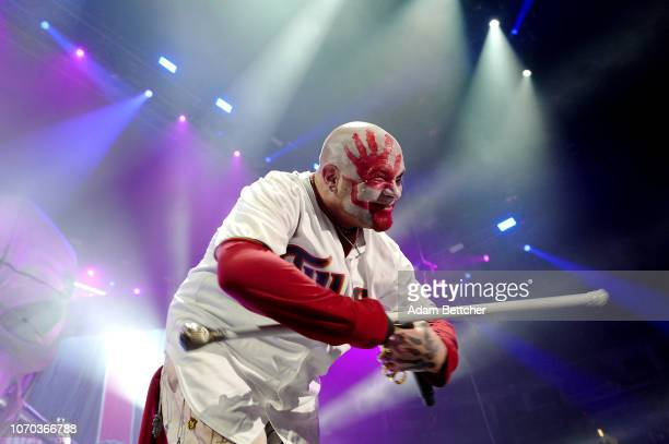 Ivan L Moody of Five Finger Death Punch performs at Target Center on November 20 2018 in Minneapolis Minnesota