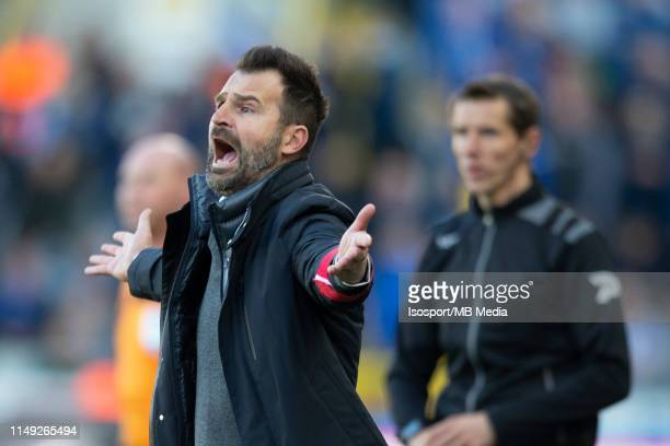 Ivan Leko head coach of Club Brugge during the Jupiler Pro League playoff 1 match between Club Brugge and Krc Genk at Jan Breydel Stadium on May 12...