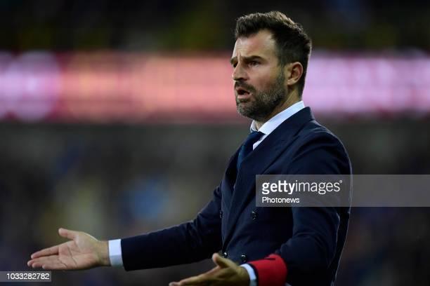 Ivan Leko head coach of Club Brugge gestures during the Jupiler Pro League match between Club Brugge and KSC Lokeren OV at the Jan Breydel stadium on...