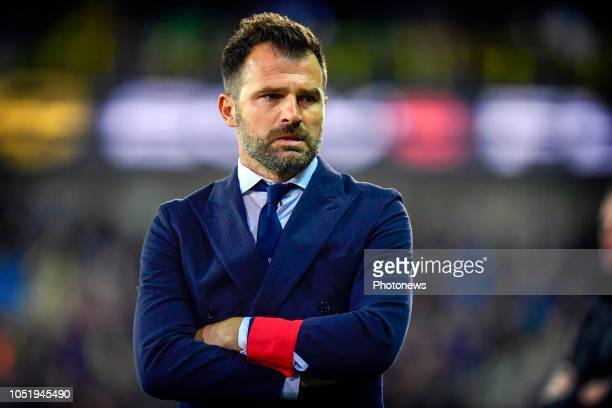 Ivan Leko head coach of Club Brugge looks on from the touchline during the Jupiler Pro League match between Club Brugge and KSC Lokeren OV at the Jan...