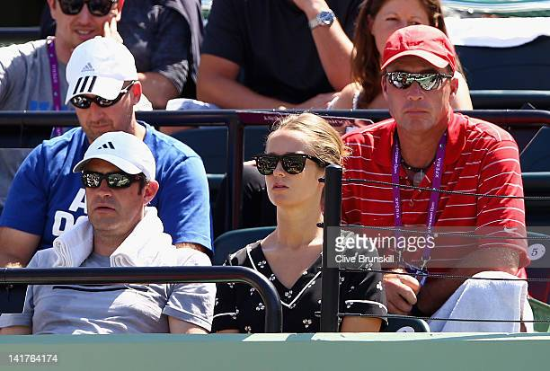 Ivan Lendl coach to Andy Murray of Great Britain watches him play Alejandro Falla of Columbia during their second round match at the Sony Ericsson...