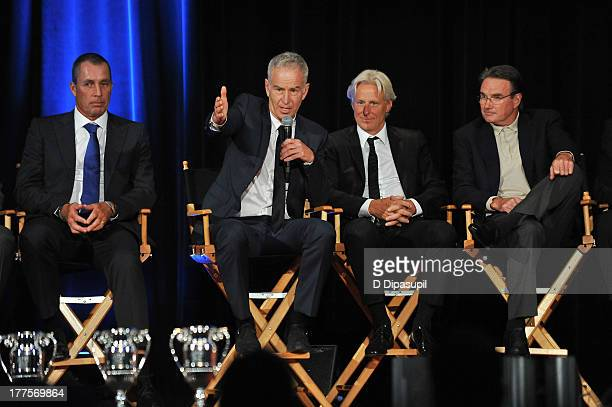 Ivan Lendl John McEnroe Bjorn Borg and Jimmy Connors attend the ATP Heritage Celebration at The Waldorf=Astoria on August 23 2013 in New York City