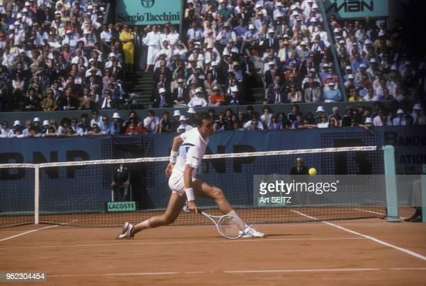 Ivan Lendl lors des Internationaux de France de tennis à RolandGarros en juin 1986 à Paris France
