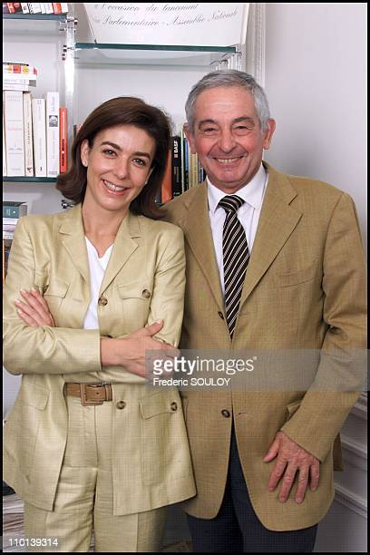 Ivan Levai with Carole Amiel in France on June 19 2001