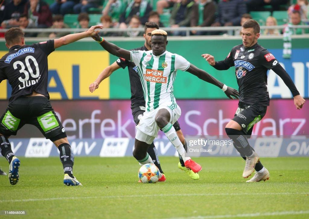 Ivan Ljubic Juan Dominguez Of Sturm Graz Aliou Badji Of Rapid Wien News Photo Getty Images
