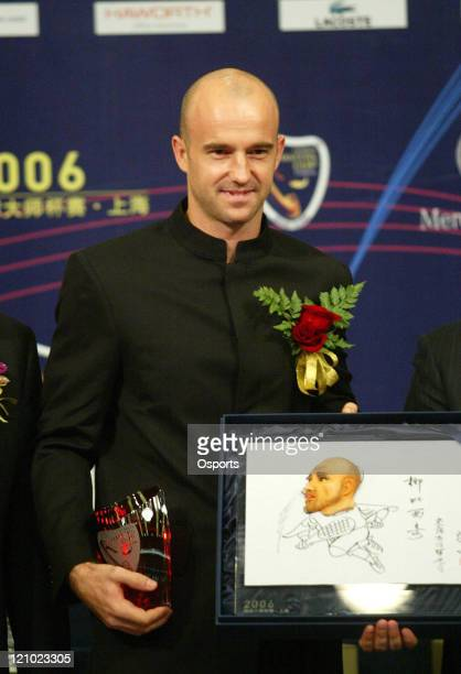 Ivan Ljubicic during a press conference prior to the 2006 Masters Tennis Cup Shanghai in Shanghai, China on November 11, 2006