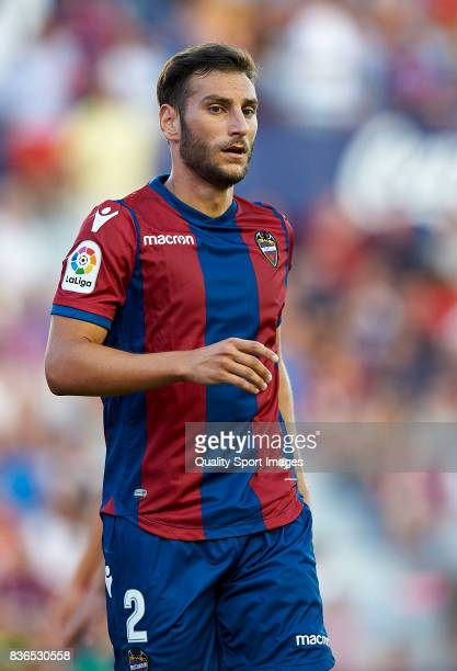Ivan Lopez of Levante looks on during the La Liga match between Levante and Villarreal at Ciutat de Valencia on August 21 2017 in Valencia