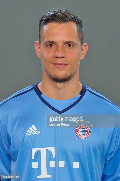 Ivan Lucic poses during the team presentation of FC Bayern Muenchen at Bayern's training ground Saebener Strasse on July 16 2015 in Munich Germany