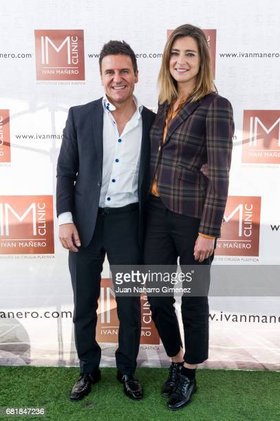 Ivan Manero and Sandra Barneda attend 'IMCLINIC' 15th Anniversary photocall at Hotel Room Mate Oscar on May 11 2017 in Madrid Spain