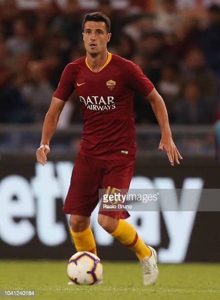 Ivan Marcano of AS Roma in action during the Serie A match between AS Roma and Frosinone Calcio at Stadio Olimpico on September 26 2018 in Rome Italy