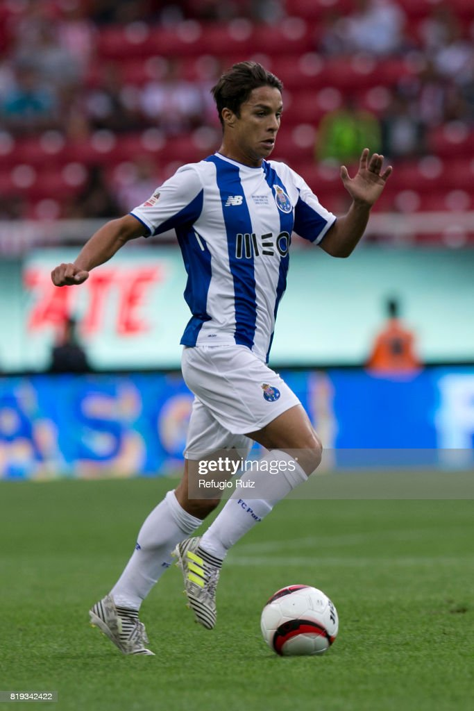 Ivan Marcano of Porto drives the ball during the friendly match between Chivas and Porto at Chivas Stadium on July 19, 2017 in Zapopan, Mexico.