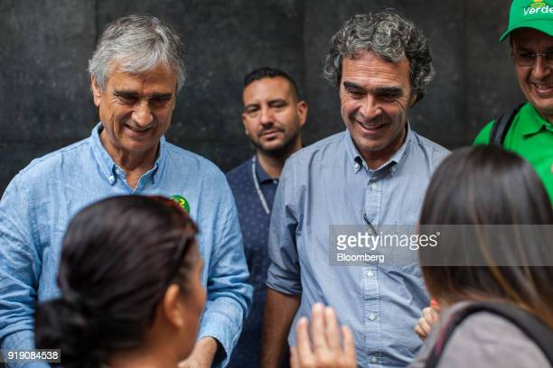Ivan Marulanda Coalicion Colombia Party Senate candidate left and Sergio Fajardo presidential candidate for the Coalicion Colombia Party and former...