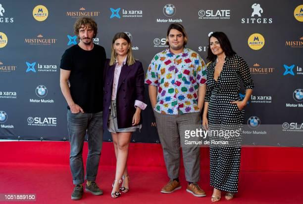 Ivan Massage Miriam Giovanelli Brais Efe and Silvia Abril attend `El ano de la Plaga´ red carpet during Sitges Film Festival on October 11 2018 in...