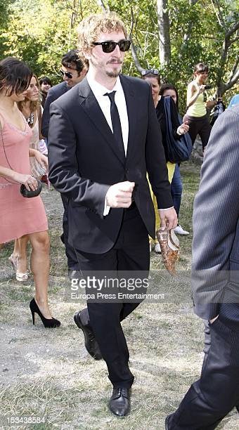 Ivan Massague attends the wedding of Juan Pablo Shuk and Ana De La Lastra on September 22 2012 in Biescas Spain