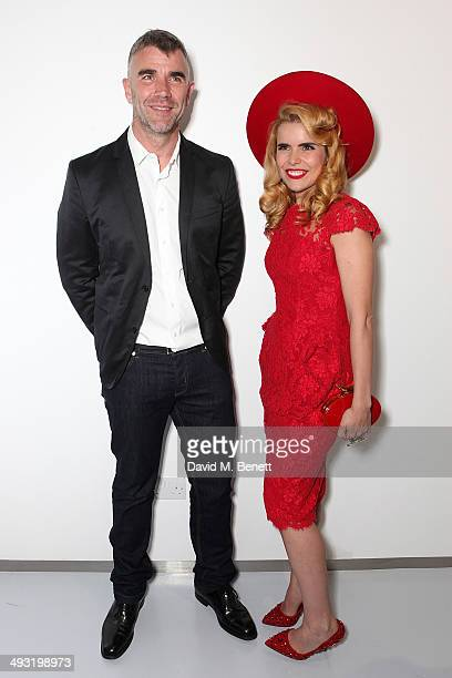 Ivan Massow and Paloma Faith attend a private view of works by master sculptor Igor Mitoraj to launch Contini Art UK a new gallery opening on New...