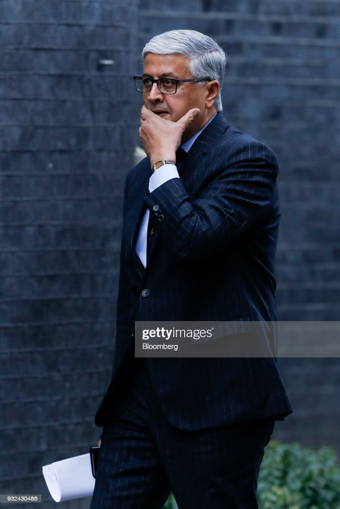 Ivan Menezes, chief executive officer of Diageo Plc, arrives for a meeting of the Business Advisory Council at Downing Street in London, U.K., on Thursday, March 15, 2018. U.K. Prime Minister Theresa May is due to meet business leaders on Thursday to discuss Britain's departure from the European Union. Photographer: Luke MacGregor/Bloomberg via Getty Images