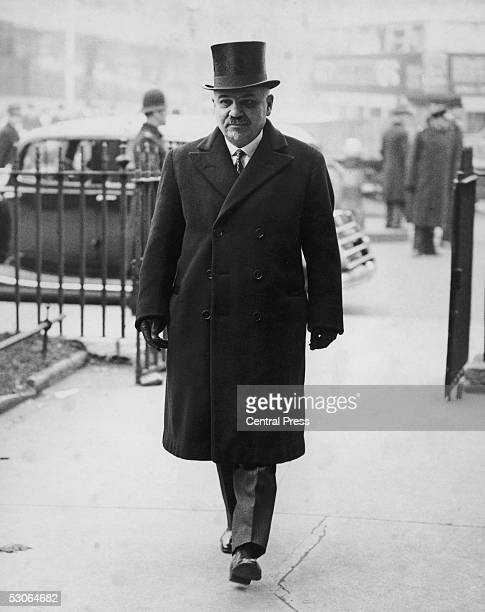 Ivan Mikhailovich Maisky the Soviet Ambassador to Britain attends a memorial service for the late Sir Austen Chamberlain at St Margaret's Church...
