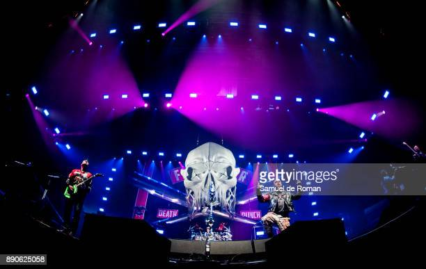 Ivan Moody Chris Kael and Jason Hook of Five Finger Death Punch perform in concert on December 11 2017 in Madrid Spain
