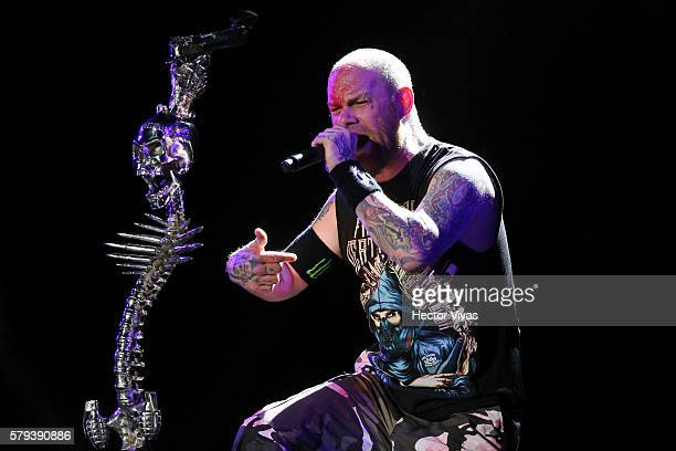 Ivan Moody lead singer of Five Finger Death Punch performs during a show as part of the Corona Hell & Heaven Metal Fest at Autodromo Hermanos...