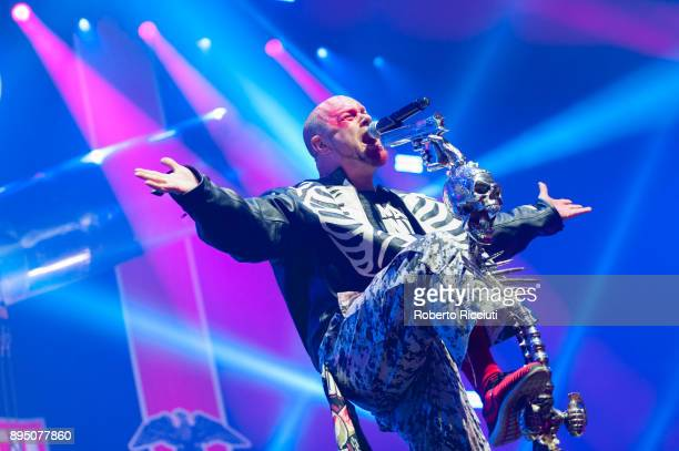 Ivan Moody of Five Finger Death Punch performs live on stage at The SSE Hydro on December 18 2017 in Glasgow Scotland
