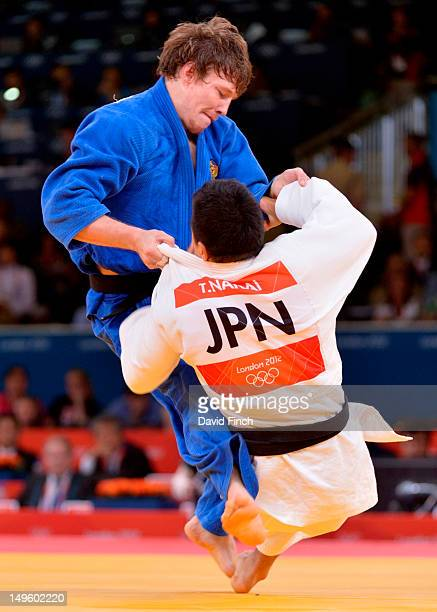 Ivan Nifontov of Russia scores against Takahiro Nakai of Japan to win the 81kgs bronze medal at the ExCeL Centre on July 31 2012 in London England