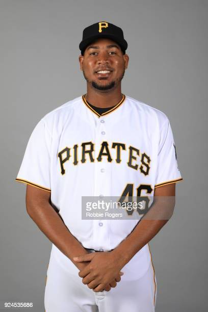 Ivan Nova of the Pittsburgh Pirates poses during Photo Day on Wednesday February 21 2018 at LECOM Park in Bradenton Florida