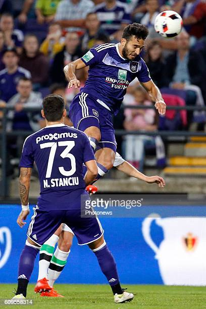 Ivan Obradovic defender of RSC Anderlecht pictured during Croky Cup match between RSC Anderlecht and OHL on September 21 2016 in Brussels Belgium