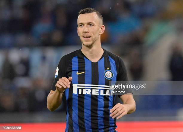 Ivan Perisic during the Italian Serie A football match between SS Lazio and Inter at the Olympic Stadium in Rome on october 29 2018