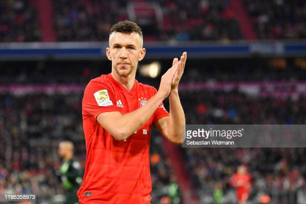 Ivan Perisic of Bayern Muenchen gestures during the Bundesliga match between FC Bayern Muenchen and VfL Wolfsburg at Allianz Arena on December 21,...