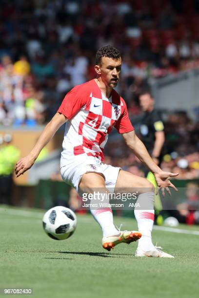 Ivan Perisic of Croatia during the International friendly match between Croatia and Brazil at Anfield on June 3 2018 in Liverpool England