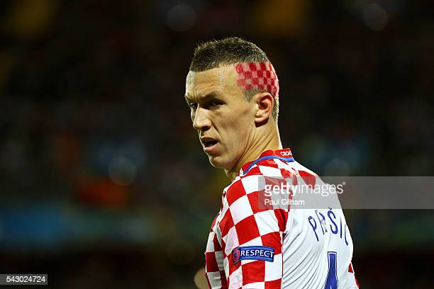 Ivan Perisic of Croatia looks on during the UEFA EURO 2016 round of 16 match between Croatia and Portugal at Stade BollaertDelelis on June 25 2016 in...