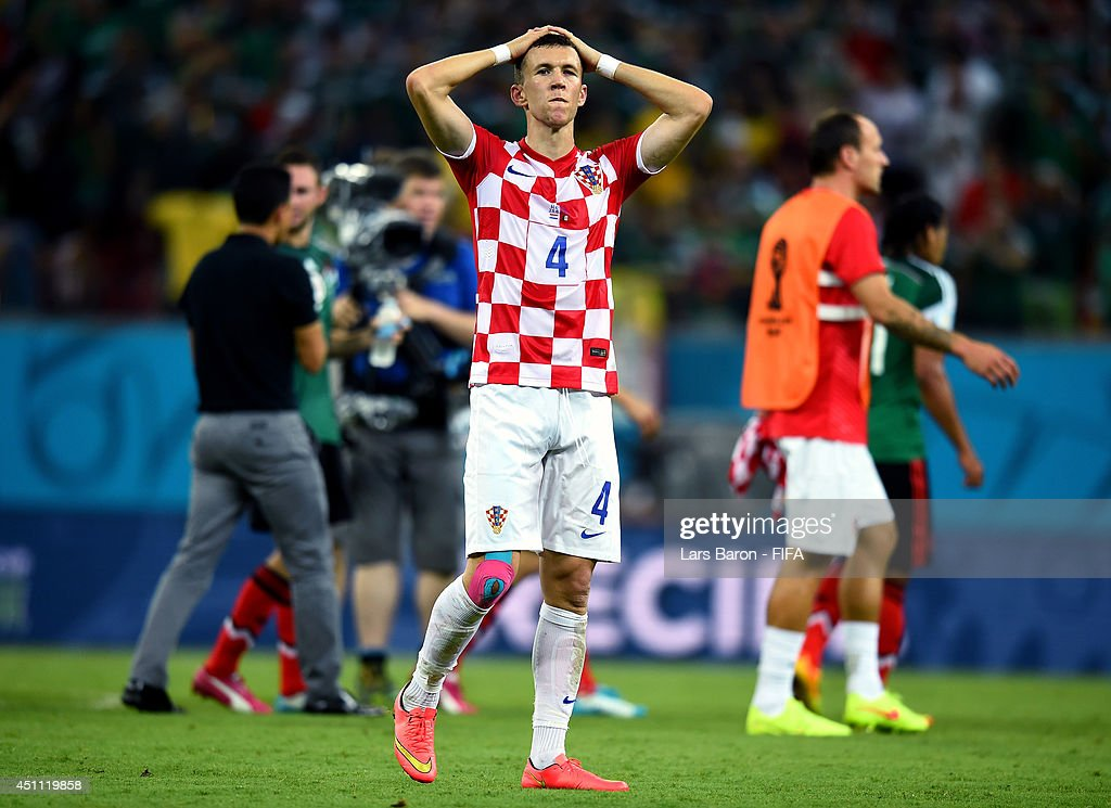 Ivan Perisic of Croatia reacts after losing the 2014 FIFA World Cup Brazil Group A match between Croatia and Mexico at Arena Pernambuco on June 23, 2014 in Recife, Brazil.