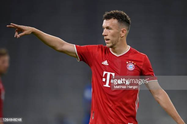 Ivan Perisic of FC Bayern München gestures during the UEFA Champions League round of 16 second leg match between FC Bayern Muenchen and Chelsea FC at...