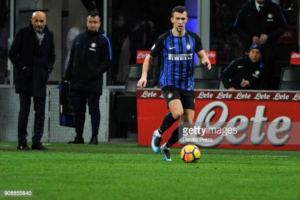 Ivan Perisic of FC Inter during Serie A football FC Inter versus AS Roma FC inter and AS Roma finish the match 11